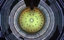 """Lichtinstallation """"320° Licht"""" von Urbanscreen im Gasometer OberhausenFoto: Wolfgang Volz"""